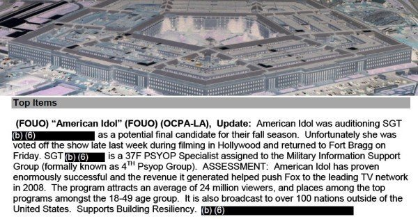 Biggest ever FOIA release from Pentagon Entertainment Liaison Offices