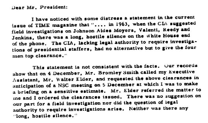 CIA-1964McConelettertoJohnsonTimearticle