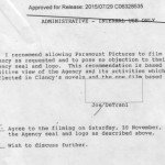 CIA documents on assisting Patriot Games