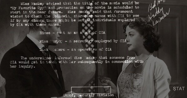 CIA memo writing themselves out of My Favorite Spy