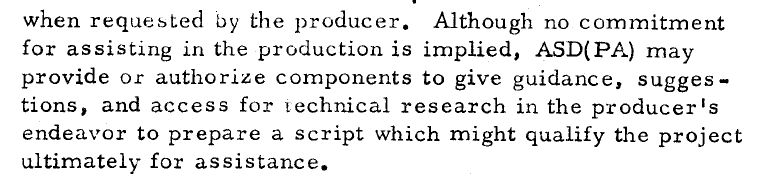 1964 Dod Instruction On Support For Entertainment Spy Culture
