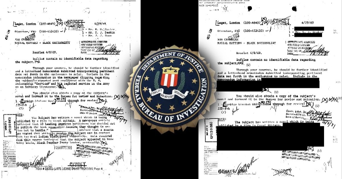 After Claiming They Couldn't Find It, FBI Release Sam Greenlee File That's More Redacted than National Archives Version
