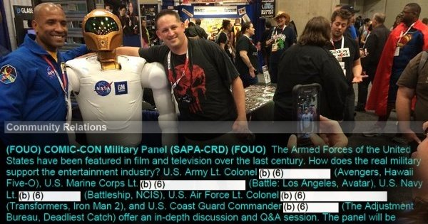 The Pentagon, NASA and Comic-Con