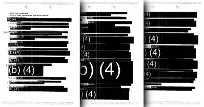 Cover Up: After More than 2 Years, the US Navy Releases an Entirely Redacted Set of Movie Script Notes