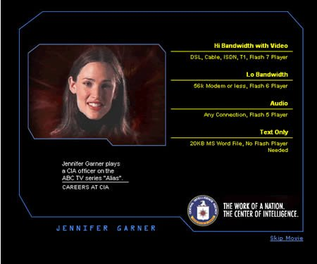 Jennifer Garner of the CIA