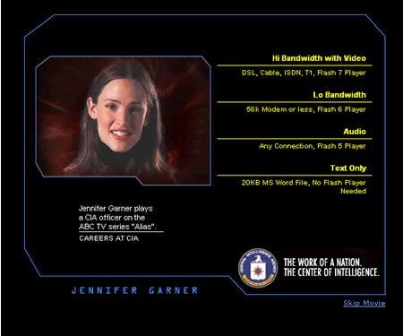 Jennifer Garner of the CIA